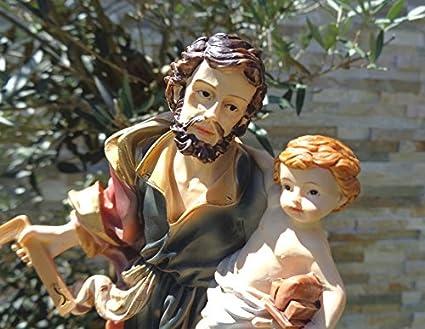 20 - 21 cm árbol - PREMIUM - pasiones y la Santa Belén de San José de Nazaret con habitación-ángulo, como el padre con niño Jesús de Nazaret, patrón de los ...