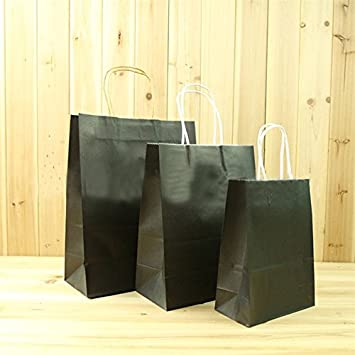 200862e532aa Amazon.com  Size L Recyclable Luxury Kraft Paper Party Bags with ...