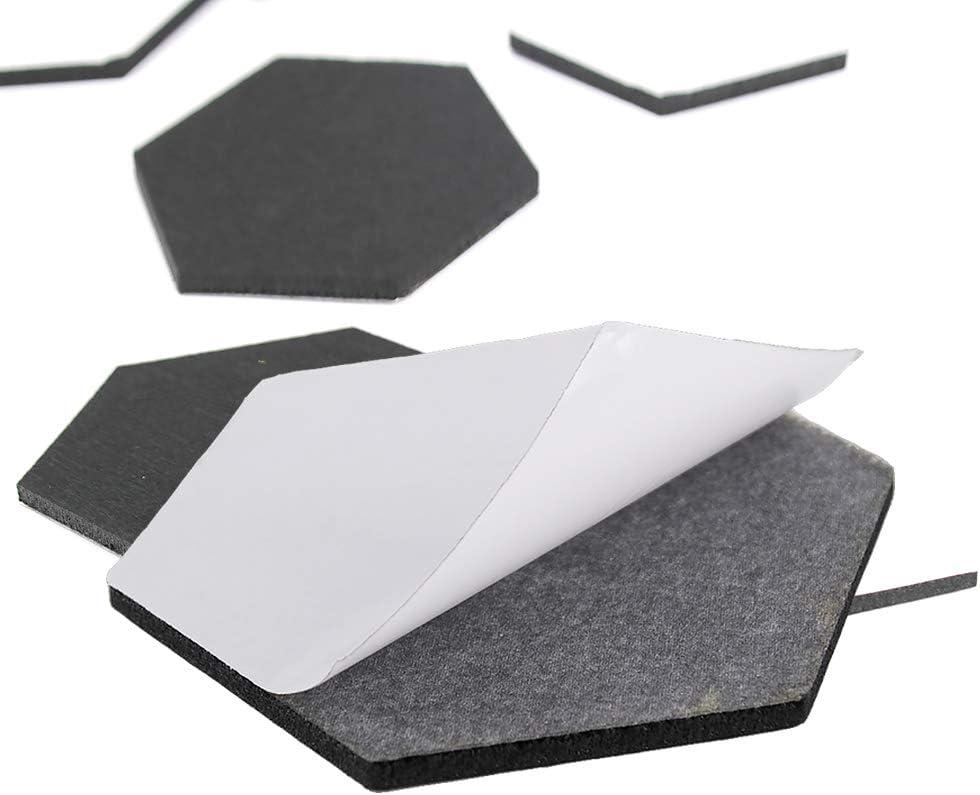 Pour la maison 5 mm le bureau Panneau daffichage hexagonal en feutre Homo Trends Lot de 10 tableaux en li/ège