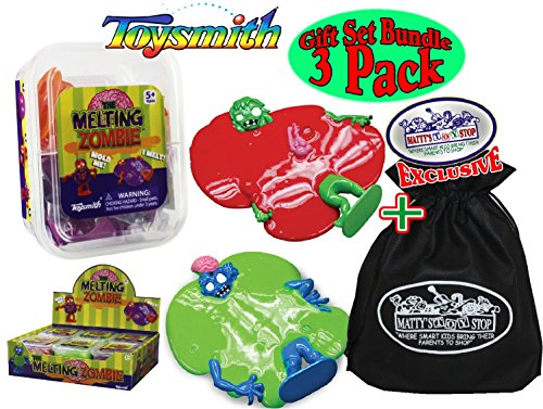 Toysmith Melting Zombie (Slime/Putty) Red, Green & Purple Complete Gift Set Party Bundle with Exclusive