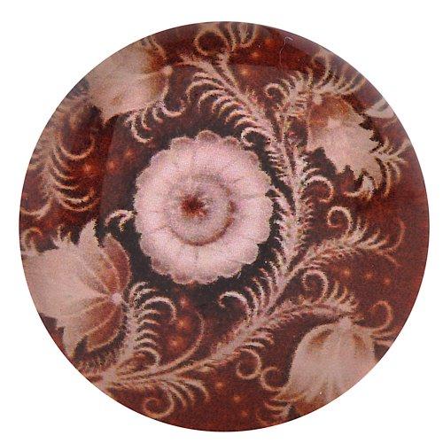 Morella click-button bouton pression en verre pour bijou femme motifs fleurs rouges)