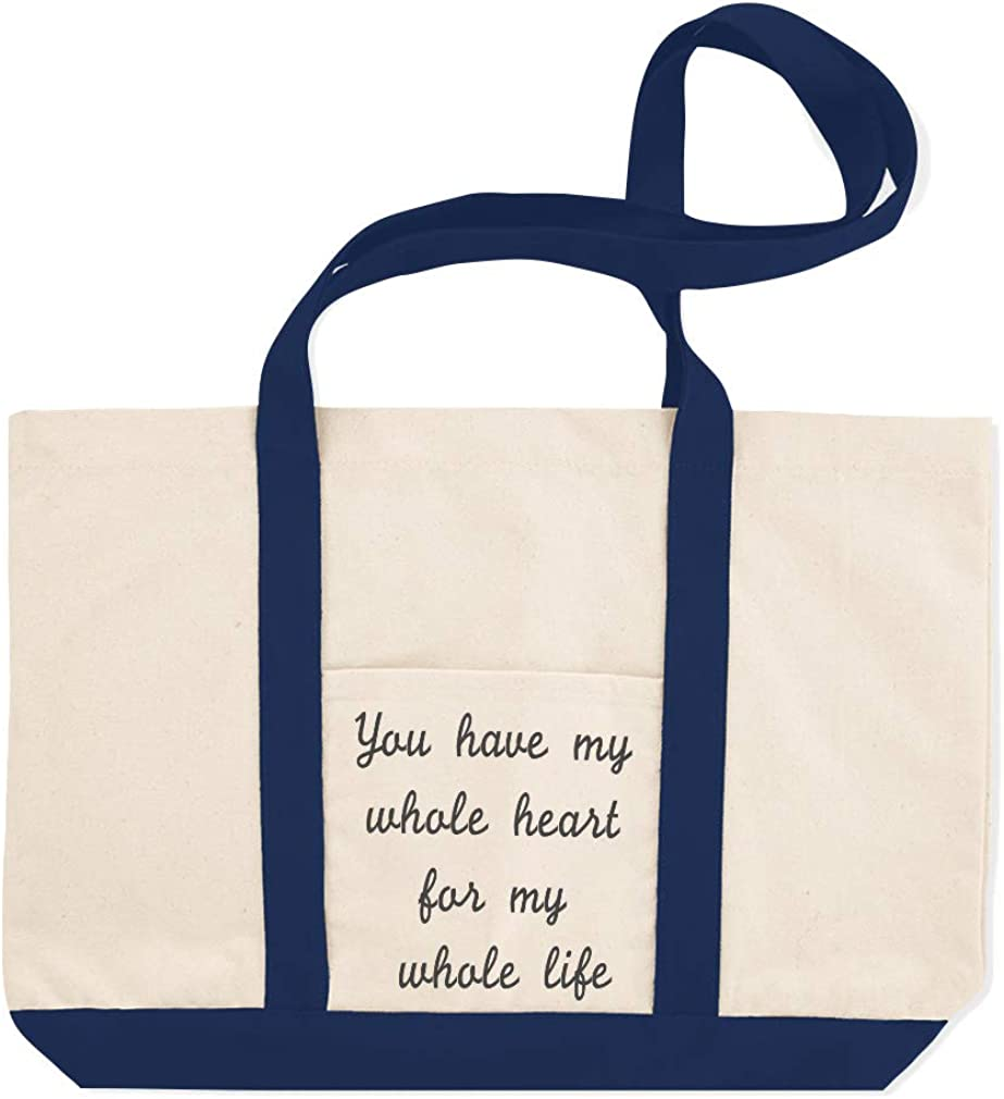 Canvas Shopping Tote Bag You Have My Heart for Whole Life B Funny /& Novelty Humor Beach for Women
