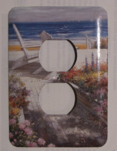 (Decorative Wall Outlet Plates - Beach scene)