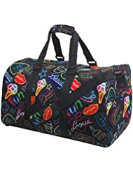 iscream Girls Fun Print Large Neoprene Duffle Bag for Sport and Travel wilth Adjustable Shoulder Strap