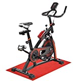 AW Fitness Indoor Cycling Spin Exercise Bike Bicycle Cycle Trainer Cardio Workout with Non-slip Mat Sport Bottle Black