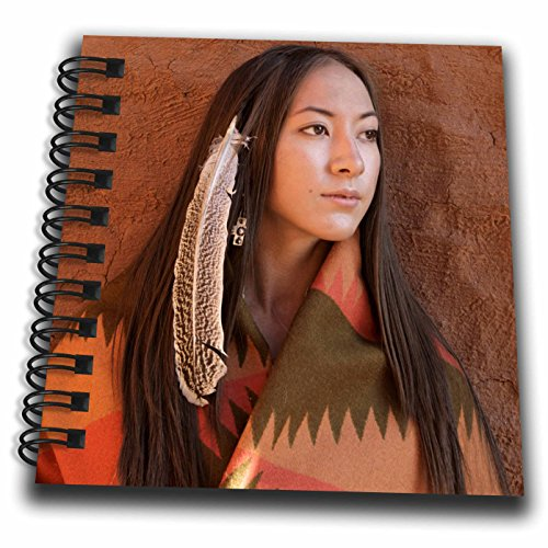 3dRose New Mexico, Cherokee Woman, Native American-Us32 Jmr0634-Julien McRoberts-Mini Notepad, 4 by 4