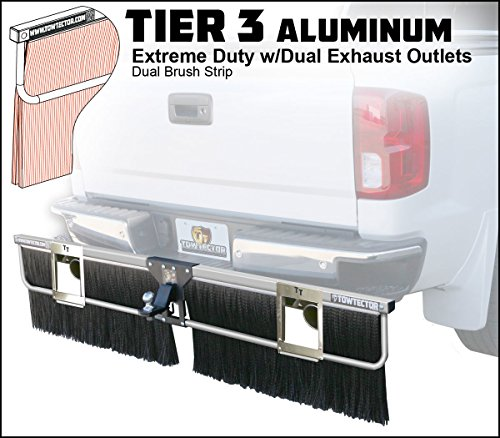 Towtector Aluminum Tier 3 Mud Flap 27814-T3ALDE Extreme Duty Dual Brush Strip with Dual Exhaust Outlets - 78
