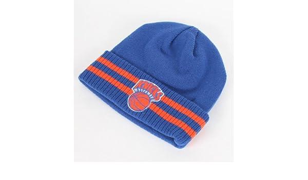 1cf6903c Amazon.com : New York Knicks Mitchell & Ness NBA Vintage Stockey Stripe  Cuffed Knit Hat : Sports Fan Beanies : Sports & Outdoors