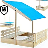 Deuba Sand pit with Height Adjustable Roof Model Choice Uv Protection To 50