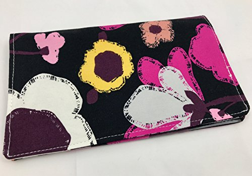 - Duplicate Checkbook Cover Register with Pen Holder - Brave Bloomed in City