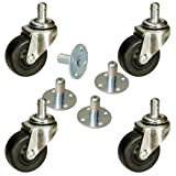 2'' Pop in Style Amp Casters with Sockets for Amplifiers Set of 4