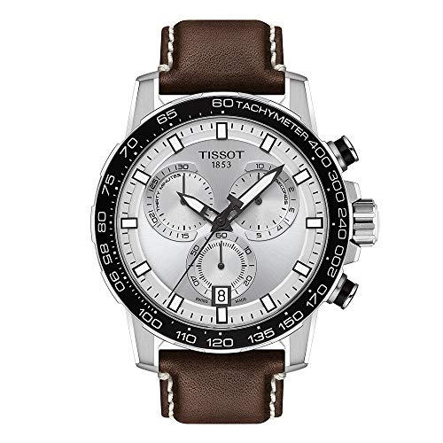 Tissot mens Supersport Stainless Steel Casual Watch Brown T1256171603100