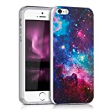 kwmobile Crystal Case Cover for Apple iPhone SE / 5 / 5S TPU silicone IMD design protective case - soft mobile cover Design space