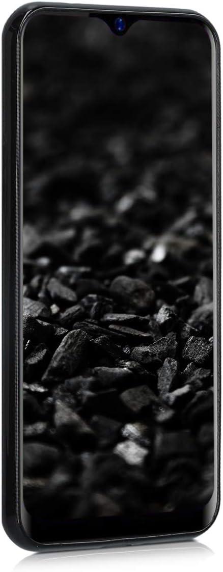 - Housse protectrice en Bleu-Gris-Noir 4G 4G kwmobile Coque Blackview A60 Pro - Coque pour t/él/éphone Blackview A60 Pro