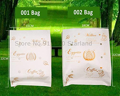 Oil Proof Paper Packing for baker Foods bags Takeaway Packaging Paper Food Bags/Hongkong egg Paper Bag