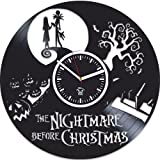 Vinyl Wall Clock, Nightmare Before Christmas, Jack Song, Best Gift For Kids, Vinyl Record Clock, Kovides, Valentines Day Gift, Silent, Wall Sticker, Wall Clock Modern, Nightmare Before Christmas Clock