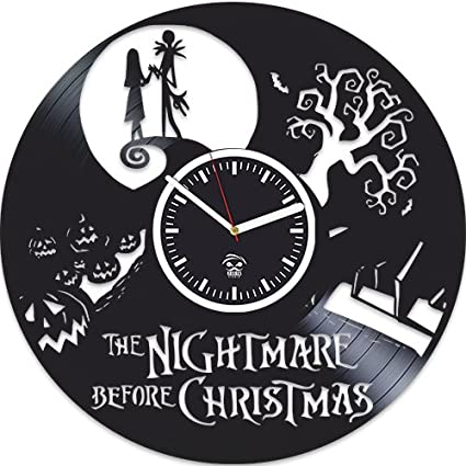 vinyl wall clock nightmare before christmas jack song best gift for kids