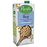 Pacific Foods Organic Soy Unsweetened Original Plant-Based Beverage, 32oz, 12-pack