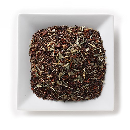 Mahamosa African Summer Honeybush Tea 2 oz, Loose Leaf Honeybush Herbal Tea Blend (with lemongrass, lemon myrtle, rose hips, eucalyptus, hibiscus, safflowers, marigold, - Bush Summer