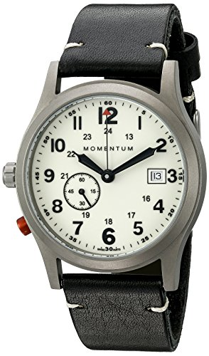 Momentum Men's 1M-SP60L2B Pathfinder III Analog Display Swiss Quartz Black Watch