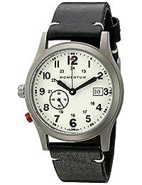 Momentum Men's 1M-SP60L2B Pathfinder III Analog Display Swiss Quartz Black Watch
