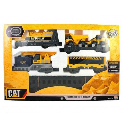 Toystate Caterpillar Construction Iron Diesel Train by - Cat Playset Bridge Builder