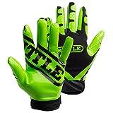 Battle Adult Ultra-Stick Receiver Gloves, X-Large, Neon Green/Black