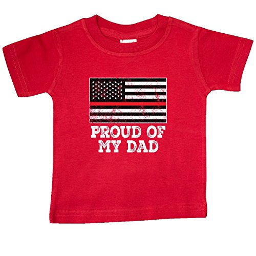(inktastic Firefighter Dad Fireman Family Baby T-Shirt 24 Months Red 31433)