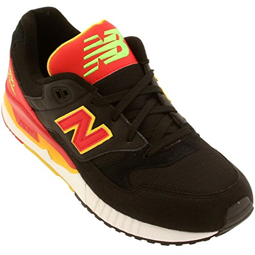 New Balance Men's 530 Summer Waves Collection Lifestyle Sneaker, Black/Red, 10 D US