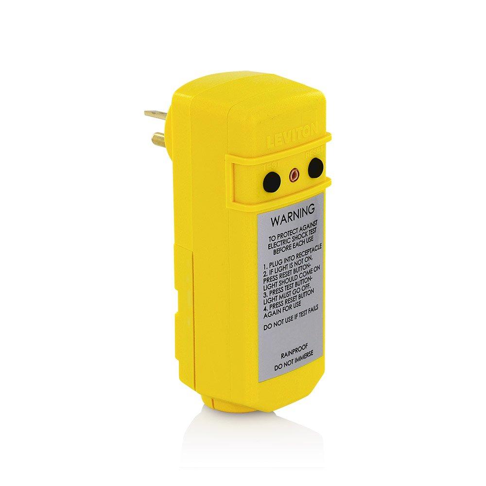 Leviton 16794 20-Amp 120-Volt Manual Reset Right-Angle GFCI Plug