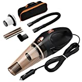 ORIA Car Vacuum Cleaner, 4000 PA, 106 W High Power Portable Cleaner, Auto Vacuum Cleaning Tools for Cars, with 16.4FT (5M) Power Cord, Portable Hand-held Carrying Bag