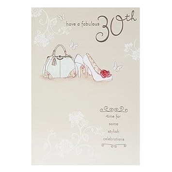 Hallmark 30th Birthday Card For Her Stylish Celebration