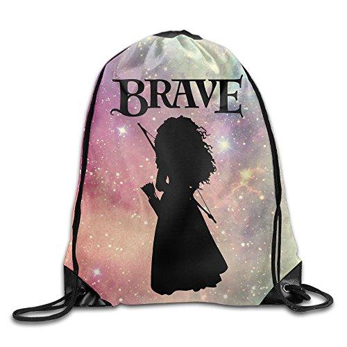 [Brave Princess Merida Silhouette Drawstring Backpack Sack Bag] (Merida Costume For Adults)