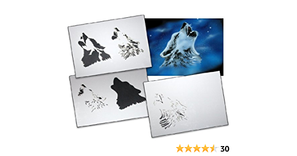 Multilayer STEP BY STEP airbrush stencil ARMY