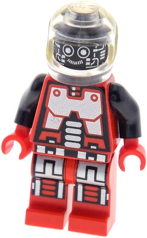 1x Lego Figur Space Spyrius Droid rot silber Kopf schwarz Helm transparent sp041