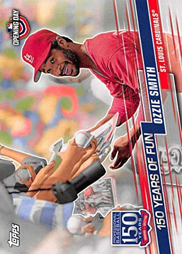 2019 Topps Opening Day 150 Years of Fun Set #YOF-10 Ozzie Smith Cardinals MLB Baseball Card ()