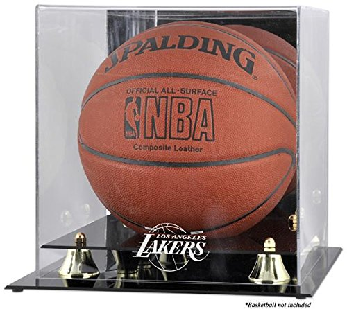 (Los Angeles Lakers Golden Classic Logo Basketball Display)