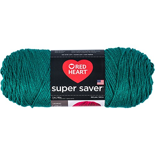 - Red Heart Super Saver Yarn, Solid - Dark Jade