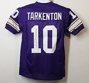 Fran Tarkenton Autographed Minnesota Vikings size XL Purple Jersey w/HOF 86 JSA