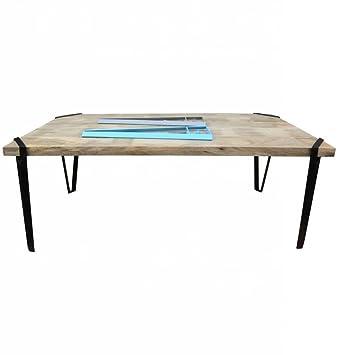 Industrial Tisch SoHo Esstisch Metallbeine individualisierbar Clamp ...