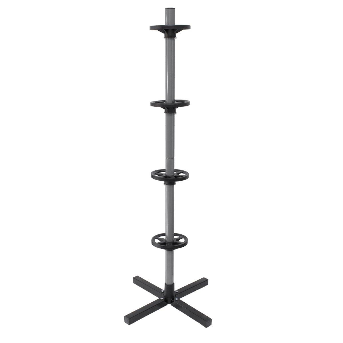 ECD Germany Soporte para llanta en Forma de á rbol para un Ancho de hasta 295 mm 45 x 45 x 143.5 cm para Carga 4 neumá ticos Carga má xima de 100kg
