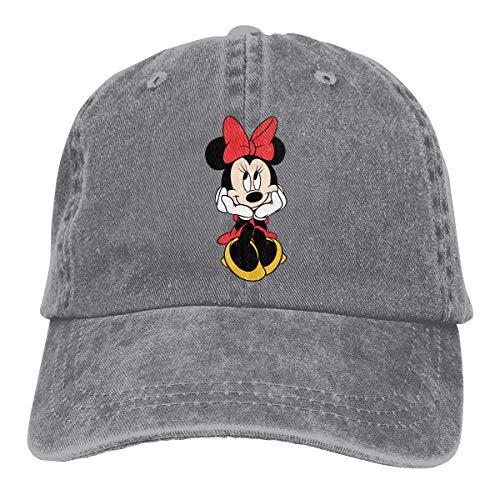Baseball Caps Minnie Mouse Adjustable Cotton and Denim Cowboy Hat,Low Profile Jeans Cap Hat for Men Women -