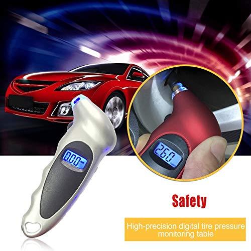 Antiscivolo per Auto Camion Bicicletta Peanutaoc 4 impostazioni Schermo LCD retroilluminato Manometro Digitale per Pneumatici 150 psi
