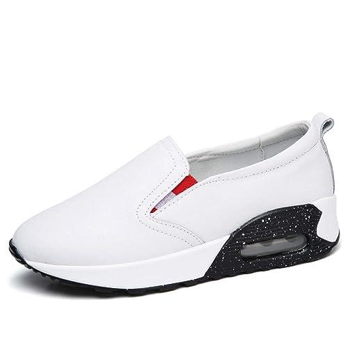 Mocasines De Plataforma Plana para Mujeres ResbalóN En MocasíN Casual Toe Redondo Damas Bajas Dividir Mocasines De Cuero Zapatos: Amazon.es: Zapatos y ...