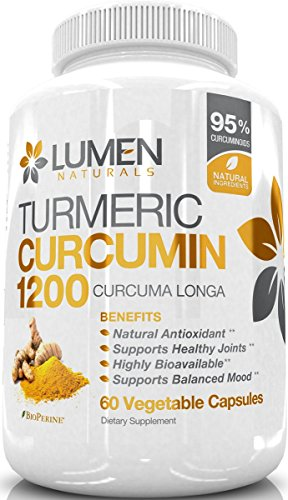 514FzBjpsYL - Turmeric Curcumin Extra Strength 1200mg with Bioperine (Black Pepper) - Fast Acting Natural Anti Inflammatory Turmeric Capsules - Supplement Shown to Relieve Joint Pain & Inflammation