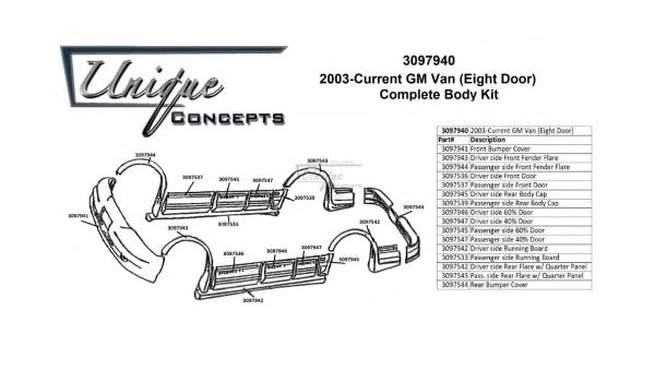 2003 chevy express body parts diagram