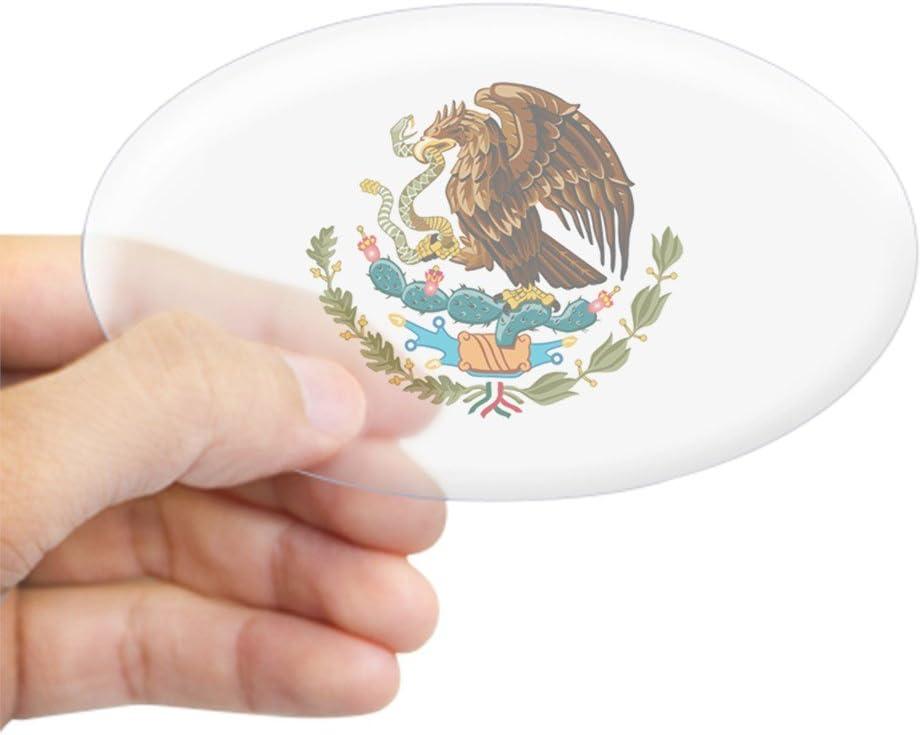 Cafepress Autoaufkleber Mexikanischer Adler Ovaler Aufkleber Euro Ovaler Autoaufkleber Küche Haushalt