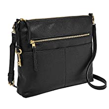 Fossil Fiona Large Crossbody, Black, One Size