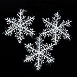 White Snowflake Ornaments Christmas Tree Decorations Home Festival Decor Set of 30