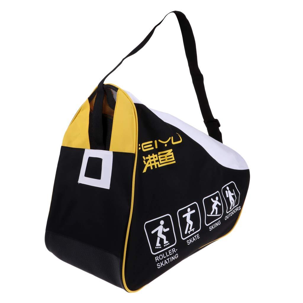 IPOTCH Hochwertiger Sporttasche Tragetasche Skate Bag Carrier Tasche für Schlittschuhe Skateschuhe Rollschuhe Skates Helm Schutzausrüstung